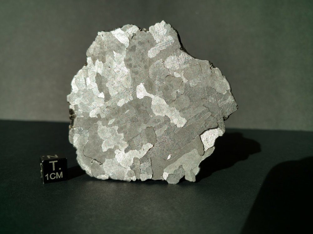 142 gram slice of Campo del Cielo meteorite preserved Meteorites For Sale