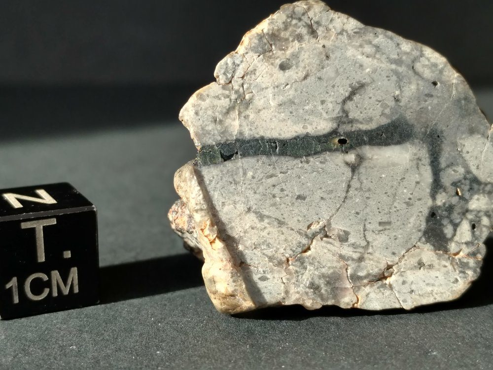 NWA 10140 Lunar Troctolite 7.93 gram Full Slice! *SOLD* Individual Meteorites For Sale