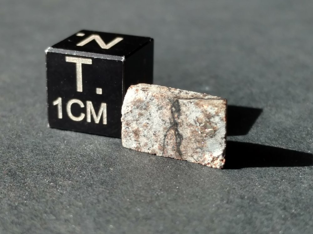 Park Forest .883 gram Meteorite Fragment From Sky and Telescope Rock Meteorites For Sale