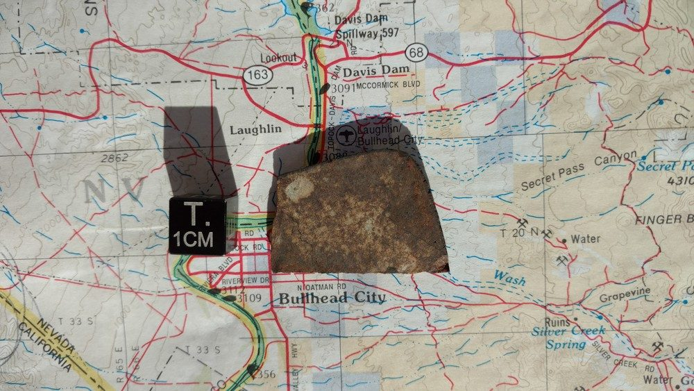 Bullhead City L6 Chondrite 7.0 gram Part Slice Meteorites For Sale