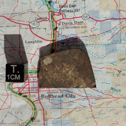 Bullhead City L6 Chondrite 7.0 gram Part Slice Meteorites For Sale