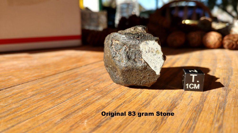 NWA 11184 Howardite Full Slice 4.111 grams Meteorites For Sale