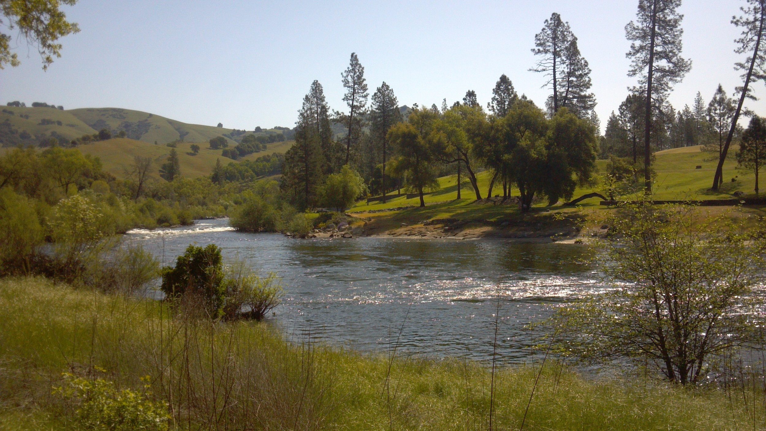 The American River where gold was discovered in Sutters Mill, California. Photo Larry Atkins