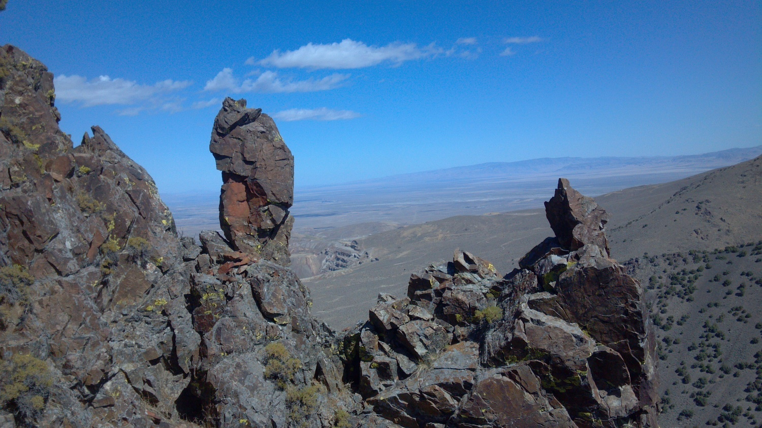 Up on Battle Mountain, Nevada. Photo Larry Atkins