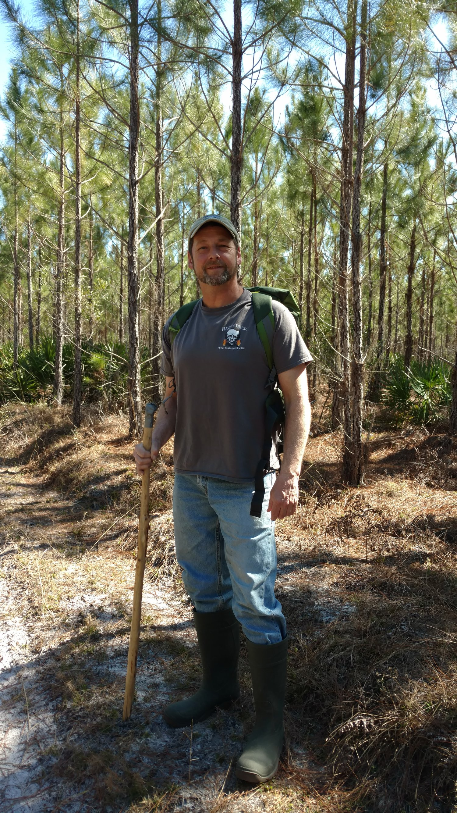 Larry Adkins Hunting Meteorites in Osceola Florida