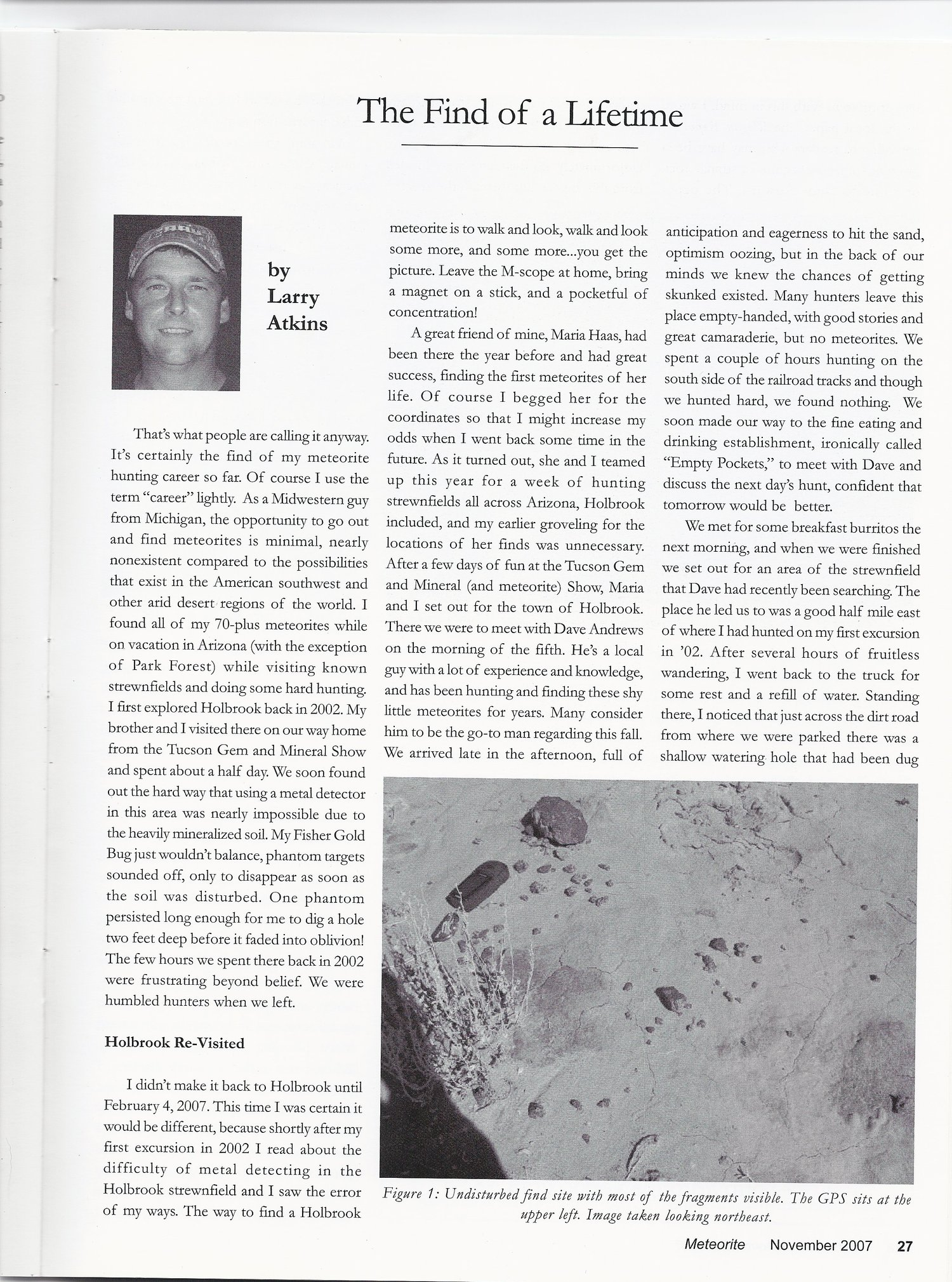 Meteorite Magazine Article by Larry Adkins November 2007