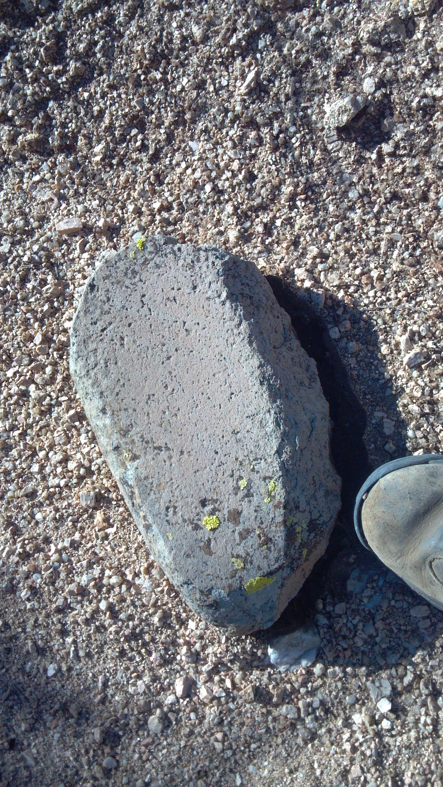 Metate. Native American Grinder. North of Phoenix Az. Photo Larry Atkins