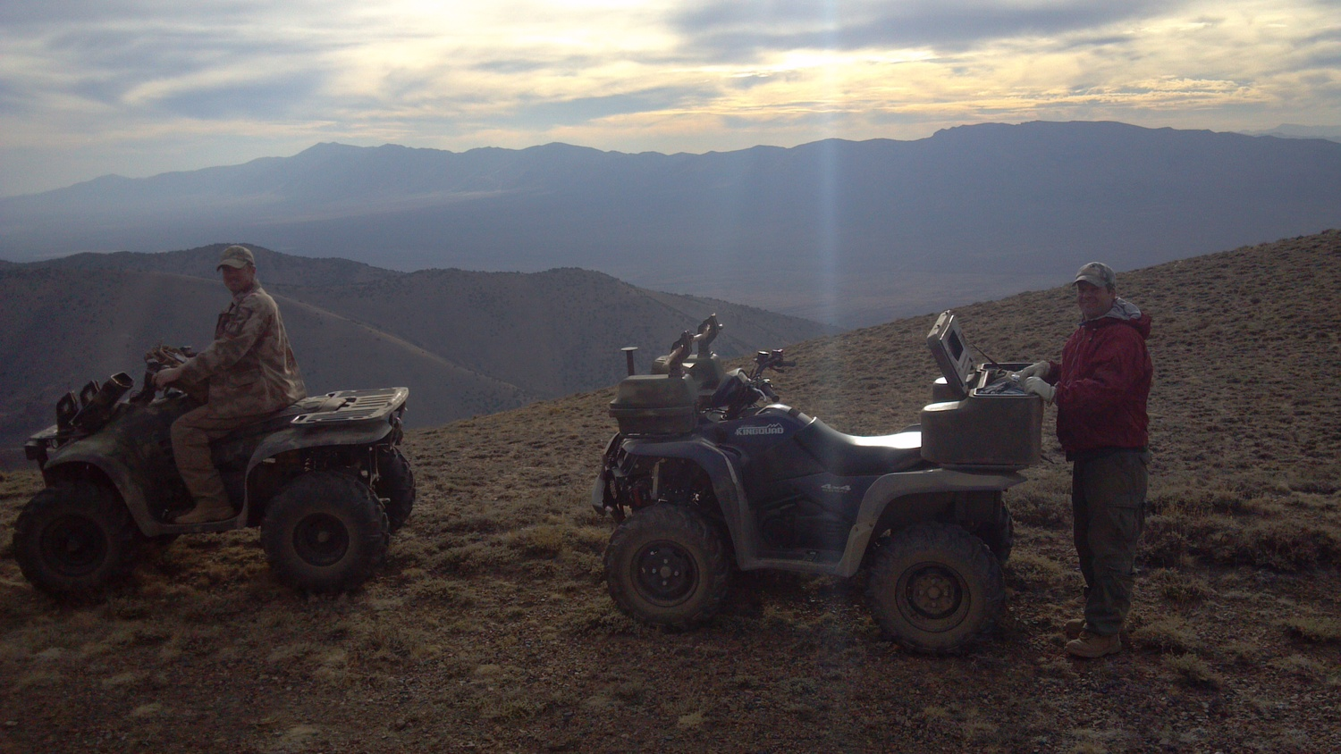 High up on Battle Mountain. Robert Ward on the left, Keith Jenkerson on the right.