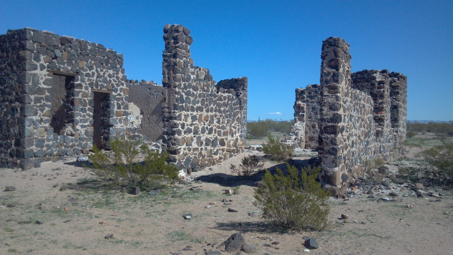 What remains of the Hotel at the Silver Bell Mine, Az. - Photo Larry Atkins