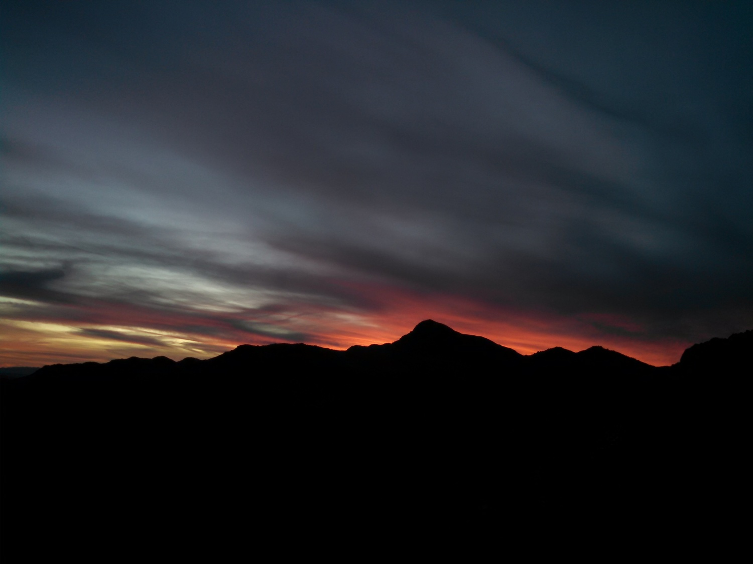 The Sun sets on another Nevada side Gold Basin hunt. Photo Larry Atkins